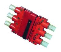 Соединители электрические низкочастотные 5Р прямоугольные - фото